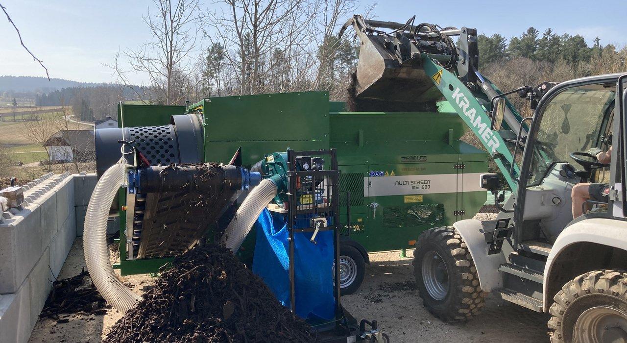 Trommelsieb MS 1600 für kleinere Biokompostierer