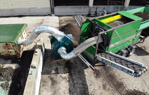 Trommelsieb für Kompostierer und Gartengestalter