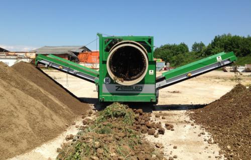 Trommelsieb für kleinere Kompostierer und Gartengestalter